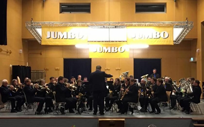 Fanfareorkest op Jumbofestival