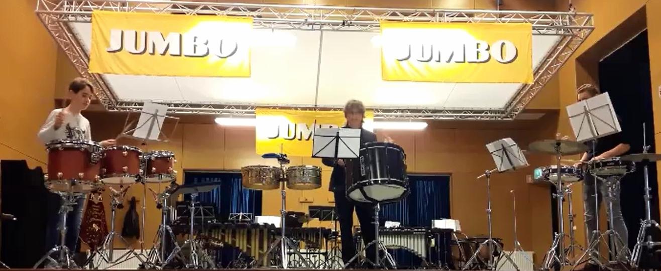 Slagwerkgroep op Jumbo Muziekfestival
